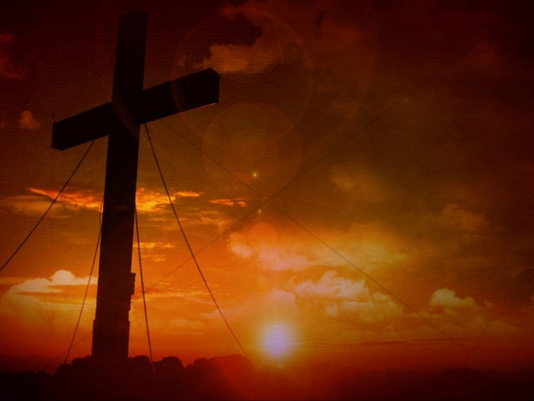 Cross Sunset Christian Stock Photography