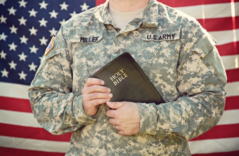 Pray for the USA Religious Stock Photo