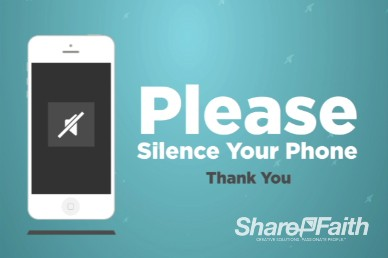 Silence Your Phone Animation Video Loop