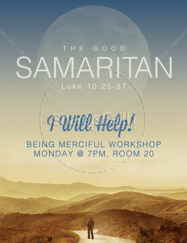 The Good Samaritan Church Flyer Template Ms Word Template  Flyer
