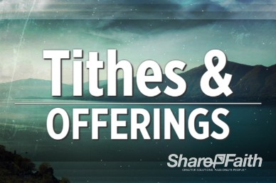 Free Set River Landscape Ministry Tithes and Offering Welcome Video