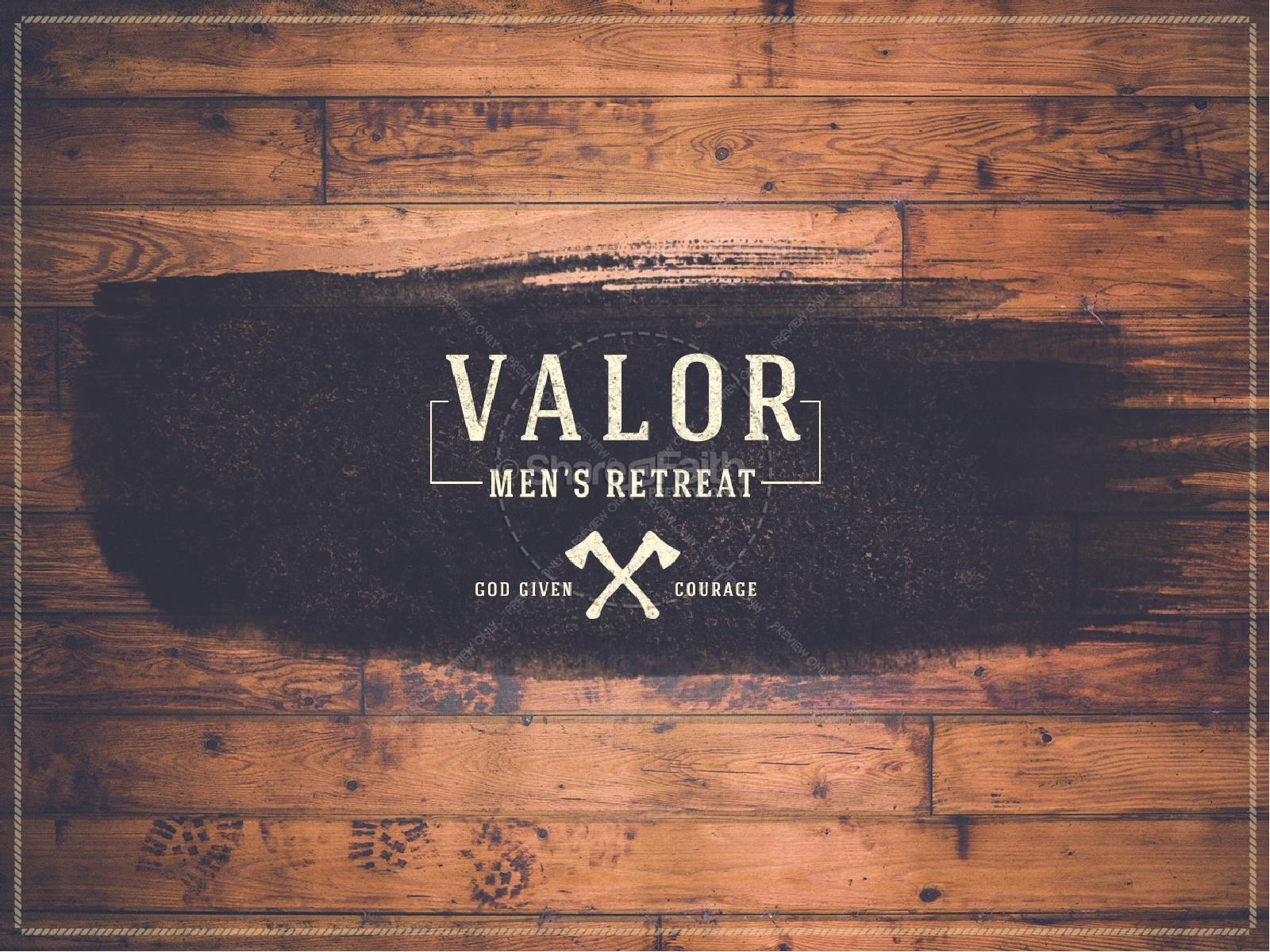 Valor Men's Retreat Ministry PowerPoint | slide 1