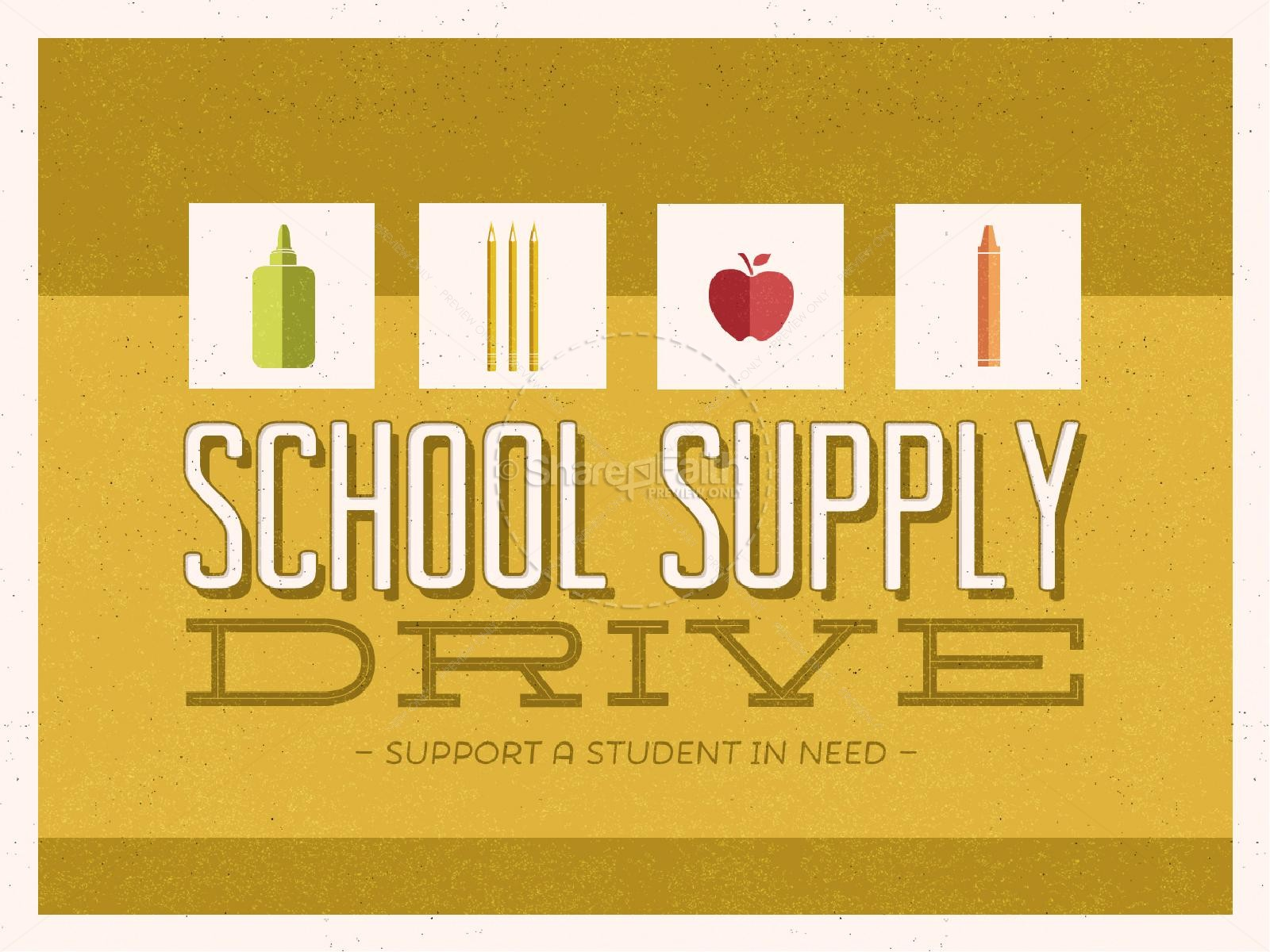 School Supply Drive Church PowerPoint | slide 1