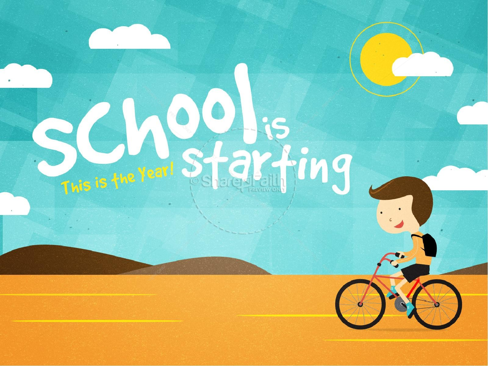 School Is Starting Back To School Graphics for Church