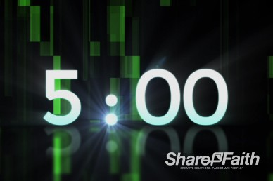 Green Falling Rectangular Prisms Religious Countdown Video