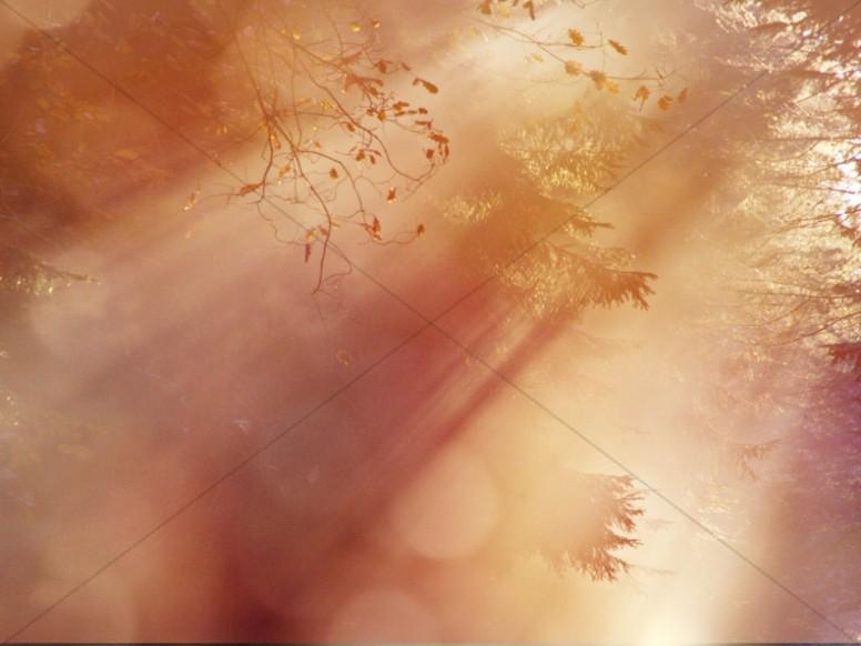 Sun Breaking Through Christian Background