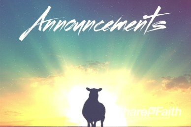 Psalm 23 Announcements Video Loop Background