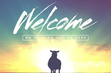 Psalm 23 Sheep Welcome Intro Video Loop for Church