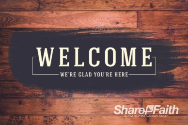 Wood Panel Vintage Welcome Video Loop for Church