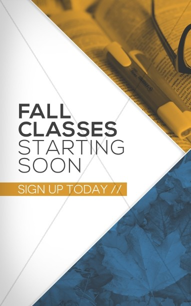Fall Classes Starting Ministry Bulletin