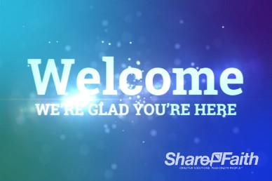 Blue Spinning Particles of Light Christian Welcome Video