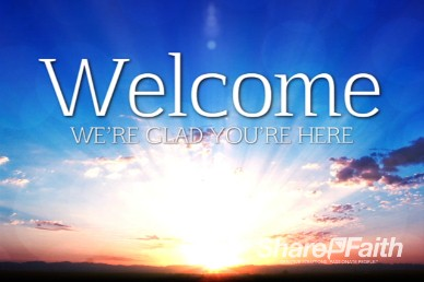 Sunrise Religious Welcome Motion Background