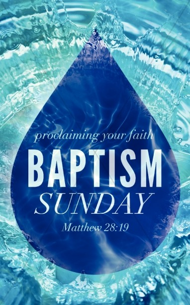 Baptism Sunday Christian Bulletin