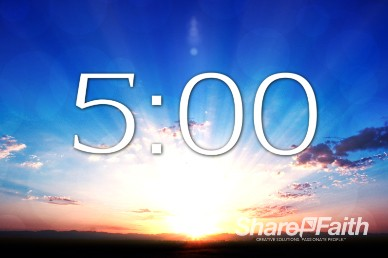 5 Minute Sunrise Religious Countdown Timer