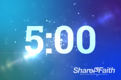5 Minute Spinning Particles Ministry Countdown Timer