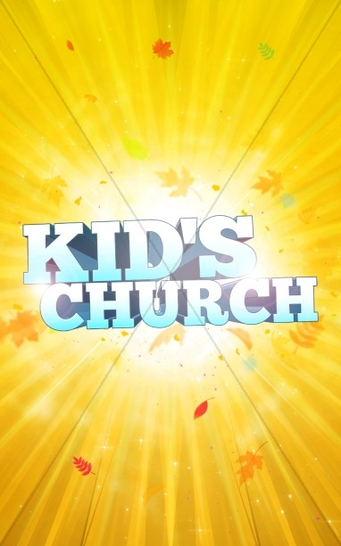 Kid's Church Religious Bulletin