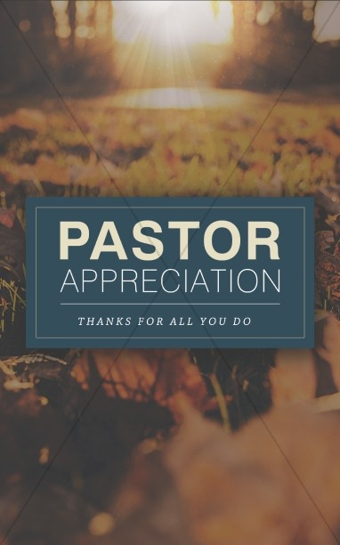 Pastor Appreciation Church Bulletin