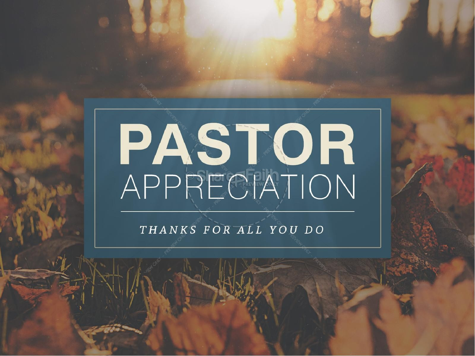 Pastor Appreciation Church PowerPoint