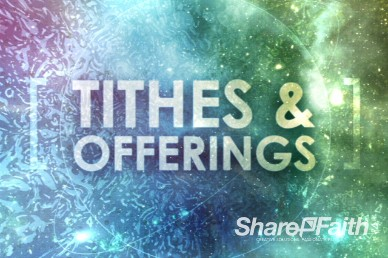 Cosmic Ministry Tithes and Offerings Service Video Loop