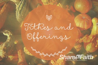 Harvest Party Religious Tithes and Offerings Video Background
