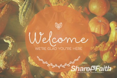 Harvest Party Religious Welcome Service Loop