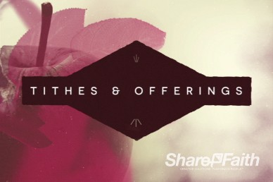 Harvest Righteousness Ministry Tithes and Offerings Motion Background