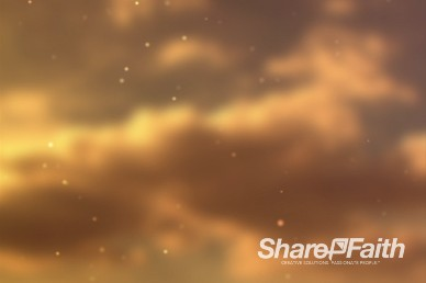 Clouds and Particles Christian Worship Video Loop