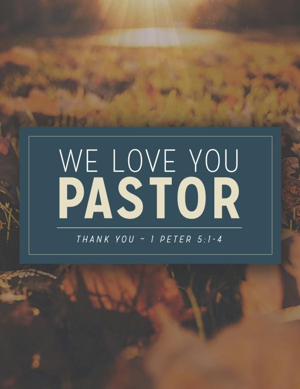 Pastor Appreciation Christian Flyer