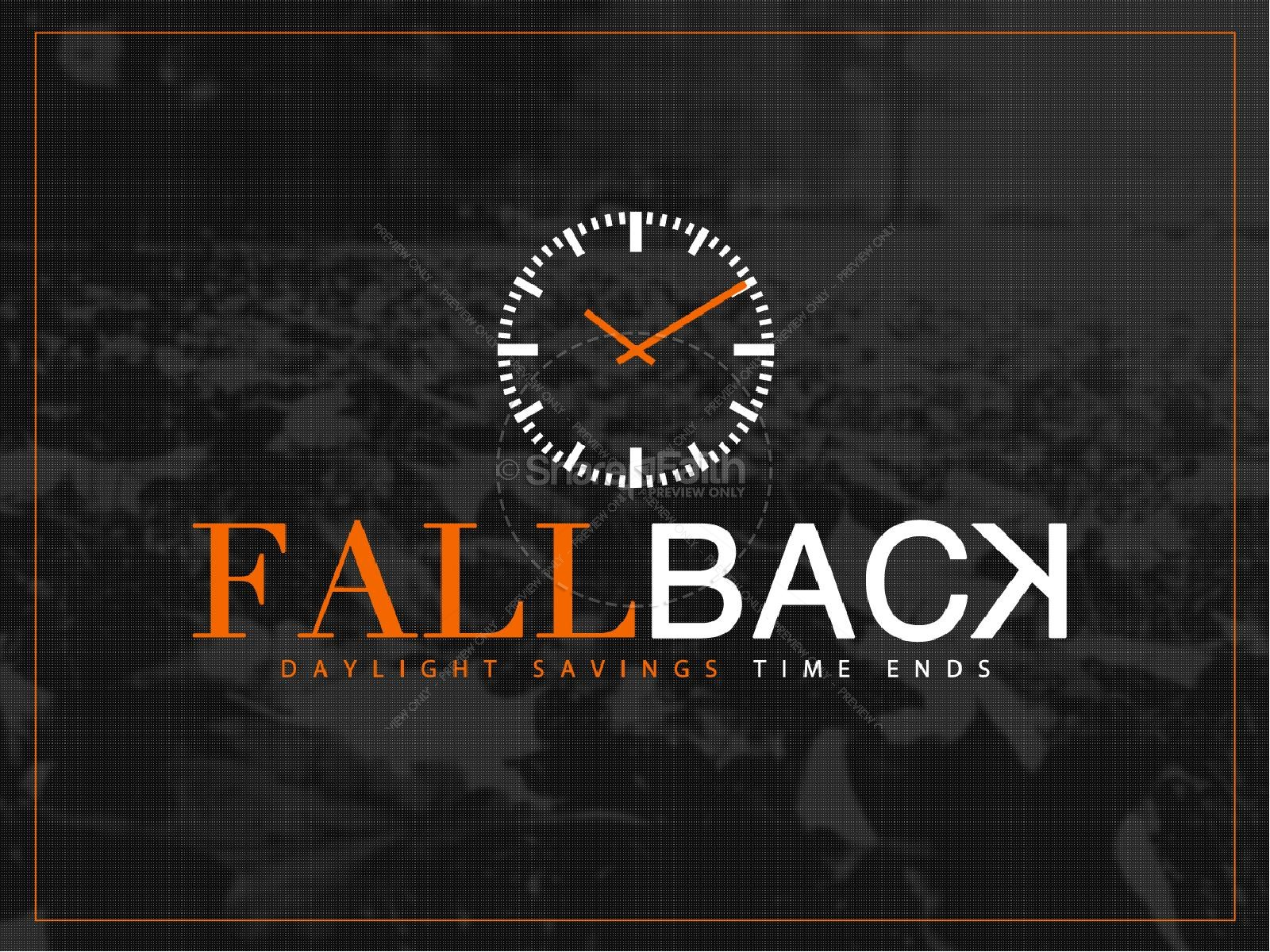 Fall Back Daylight Savings Ministry PowerPoint | slide 1