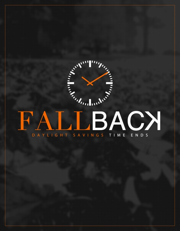 Fall Back Daylight Savings Ministry Flyer