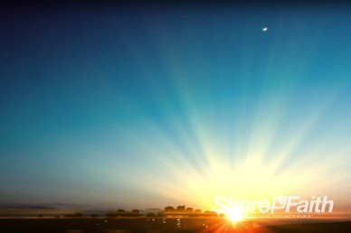 Blue Sunset Worship Video Background