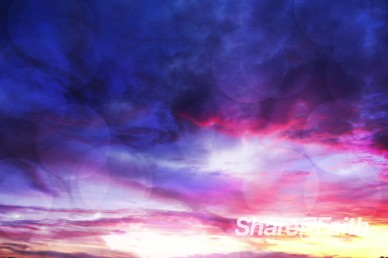 Purple Sunset Worship Video Background