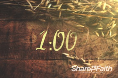 1 Minute Joy of Harvest Church Service Countdown Video