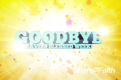 Kids Church Ministry Goodbye Video