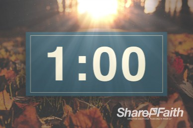 1 Minute Pastor Appreciation Church Service Countdown Timer