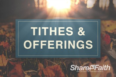 Pastor Appreciation Church Tithes and Offering Video Loop