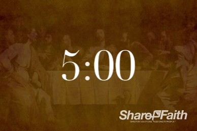 5 Minute The Lord's Supper Five Minute Service Countdown