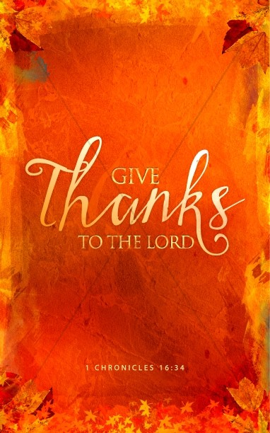 Give Thanks Christian Bulletin