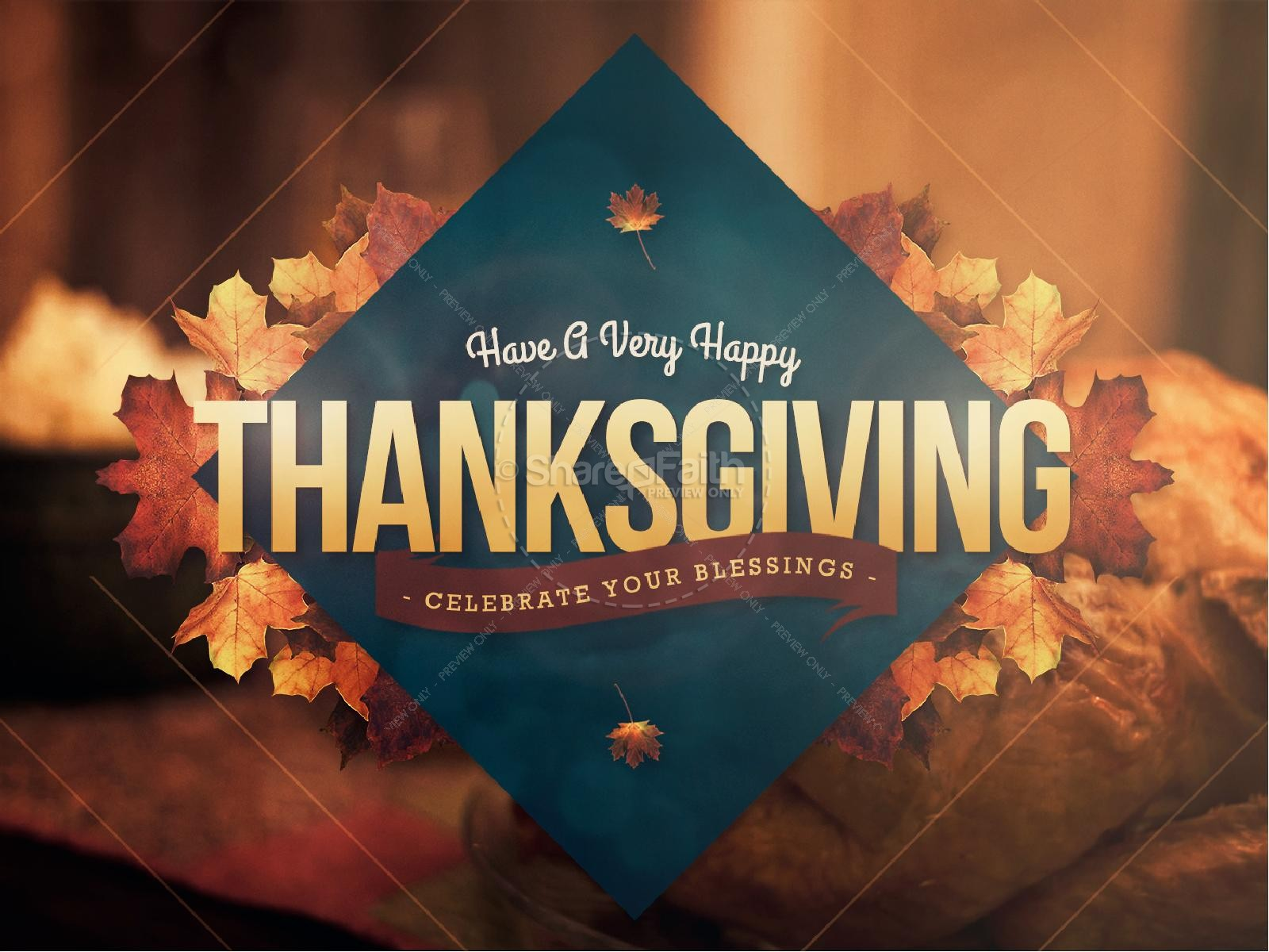 Happy Thanksgiving Holiday Religious PowerPoint   slide 1
