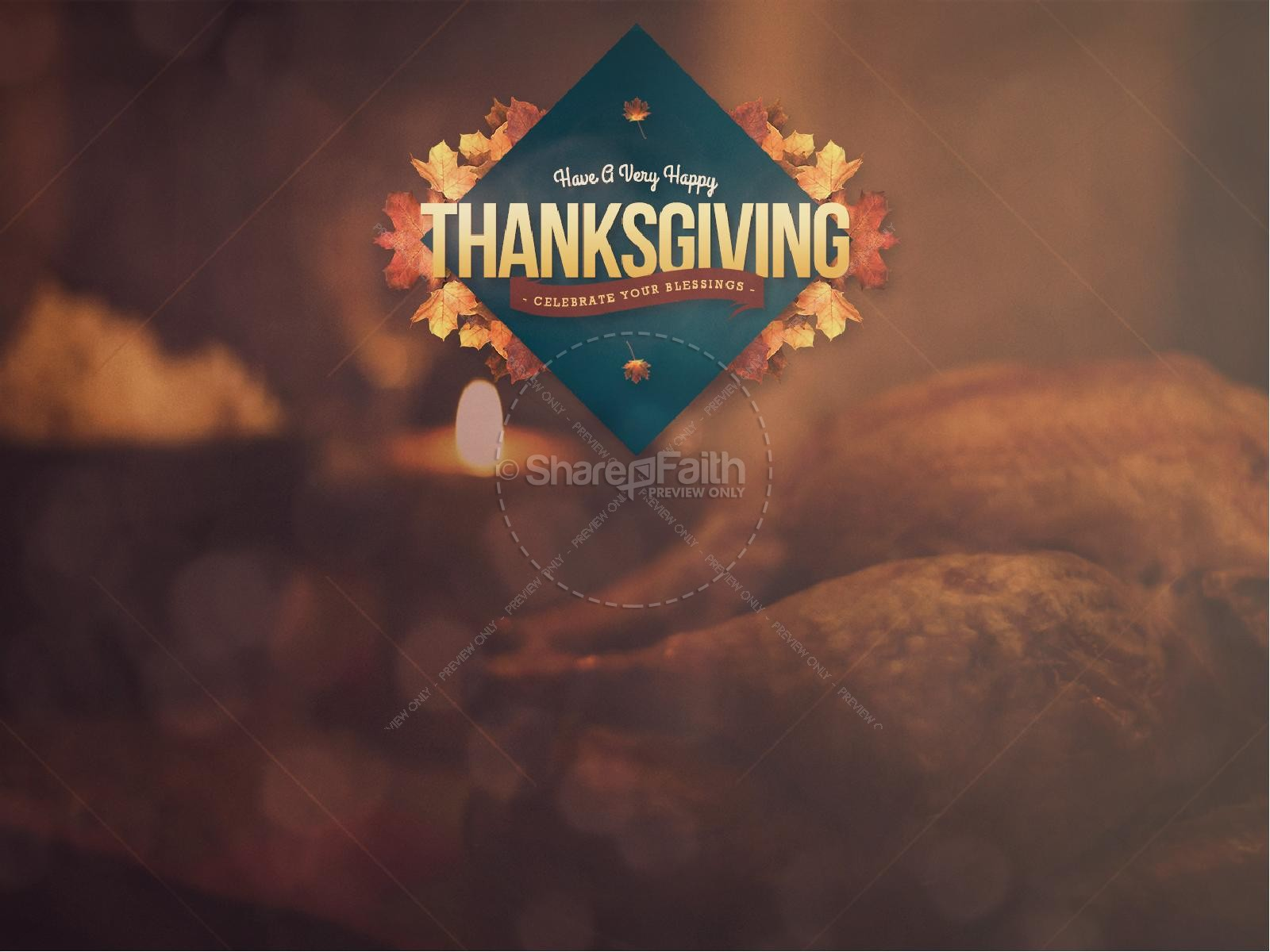 Happy Thanksgiving Holiday Religious PowerPoint | slide 2