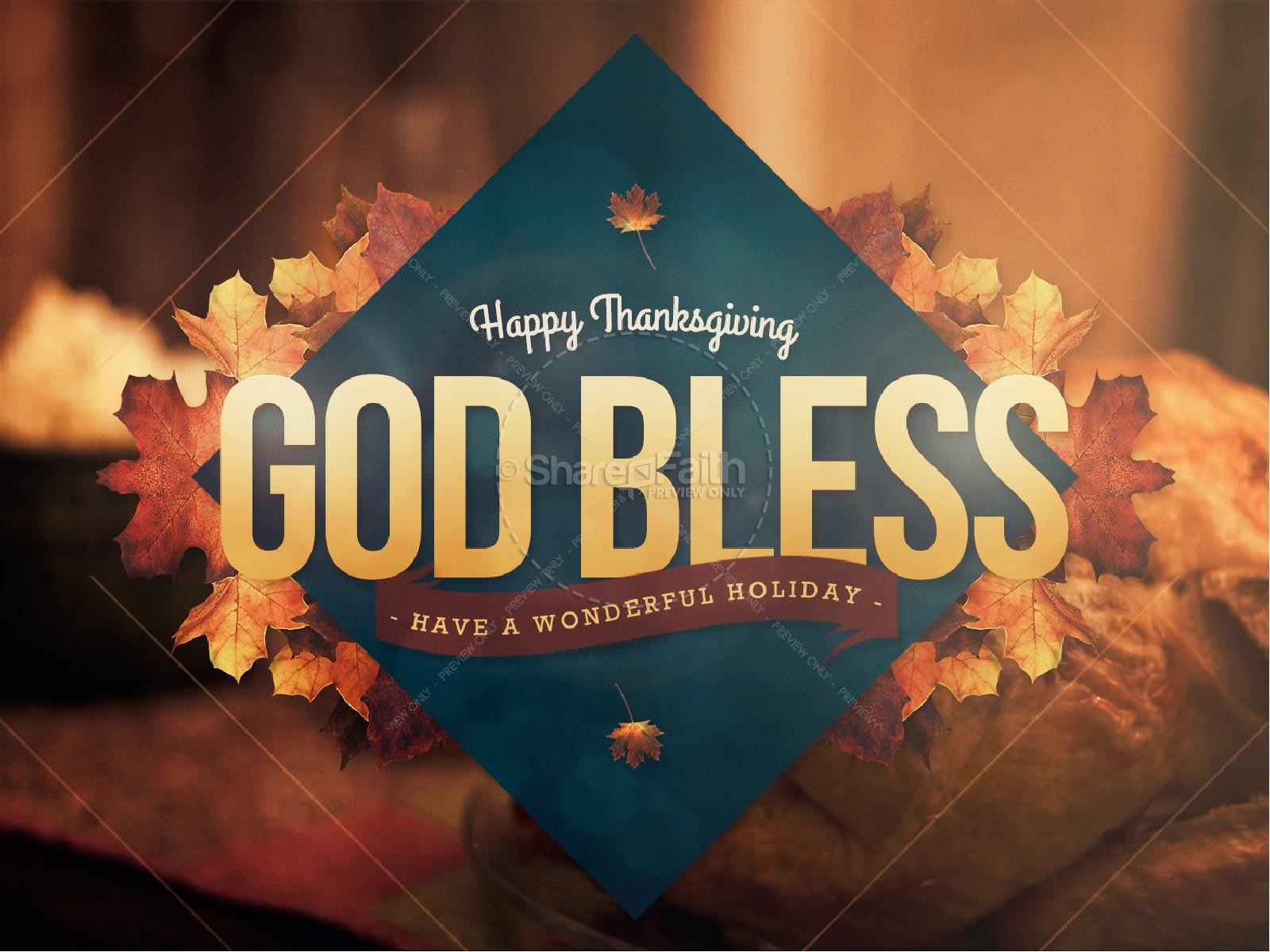 Happy Thanksgiving Holiday Religious PowerPoint