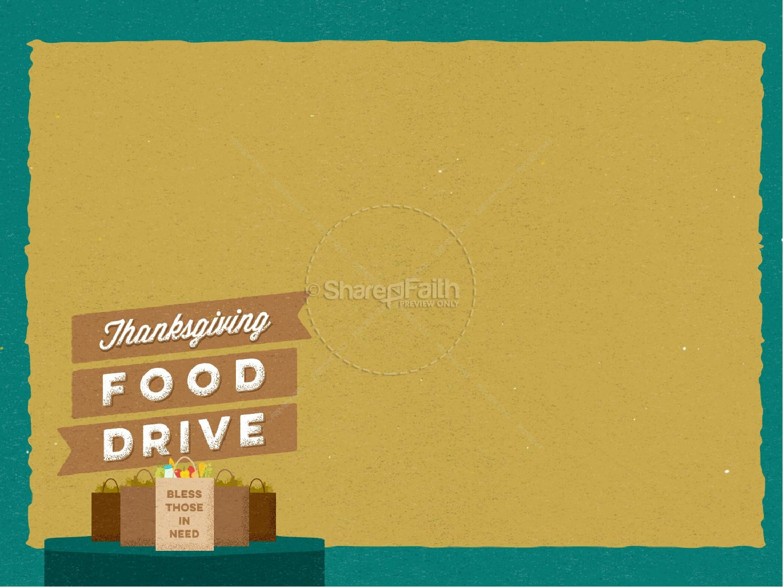 Thanksgiving Food Drive Christian PowerPoint