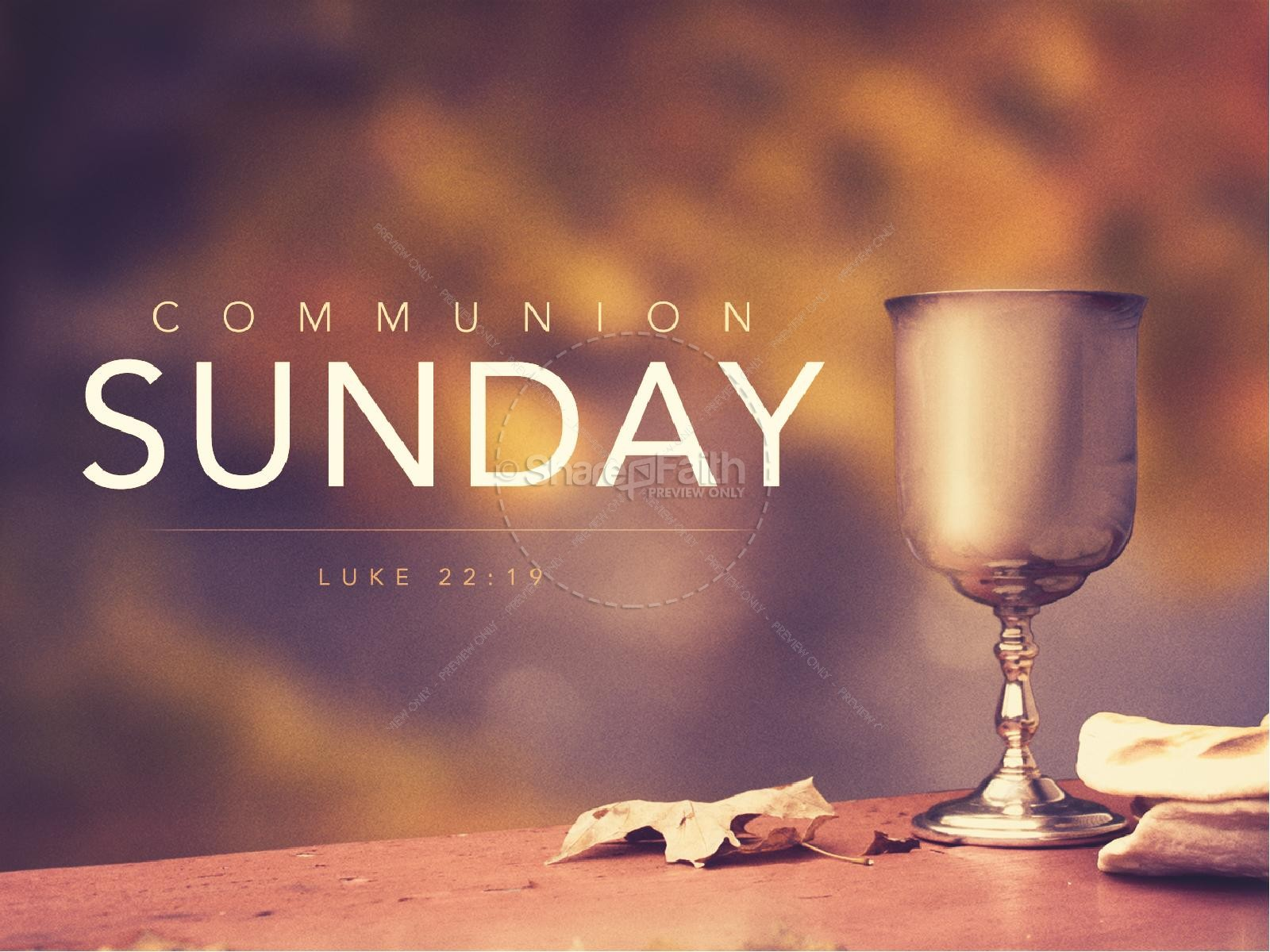Communion Sunday Religious PowerPoint