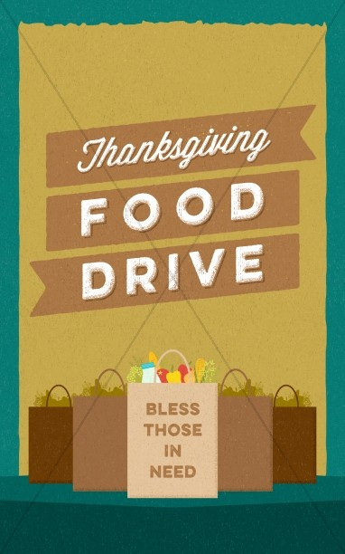 Thanksgiving Food Drive Christian Bulletin