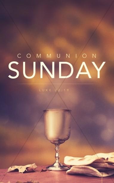 Communion Sunday Religious Bulletin