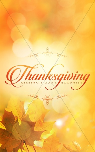 Thanksgiving Celebrate God's Goodness Christian Bulletin