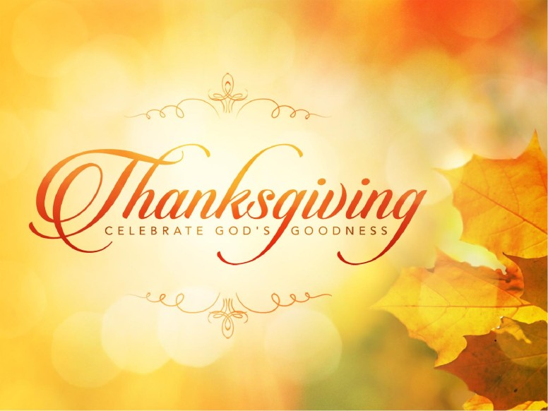 Thanksgiving Celebrate God's Goodness Christian PowerPoint
