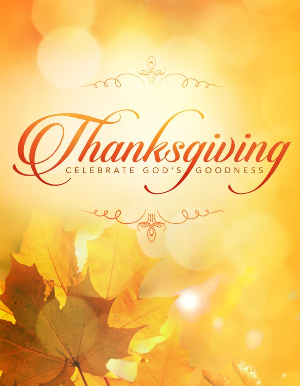 Thanksgiving Celebrate God's Goodness Ministry Flyer