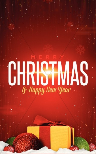 Merry Christmas Happy New Year Ministry Bulletin