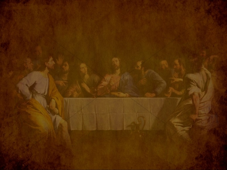Last Supper Antiqued Art Religious Background